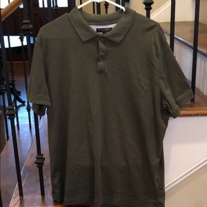 Banana Republic luxury touch polo in olive green